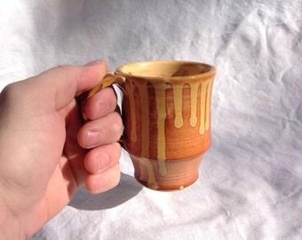 Drippy faux sho handmade ceramic 8 oz coffee mug / tea cup