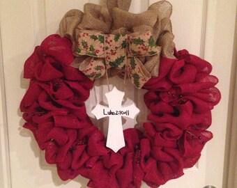 Christmas Cross Wreath