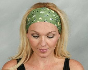 Yoga Headband Running Headband Fitness Headband Boho Headband Olive Green Workout Headband Fashion Headband Women Head Wrap Turban Headband