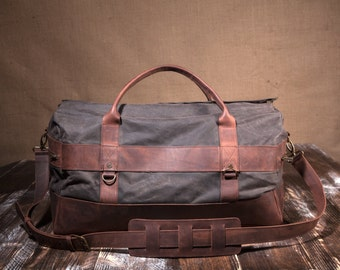 Mens Weekender Bag, Travel Bag for Men, Canvas Weekender, Mens Travel Bag