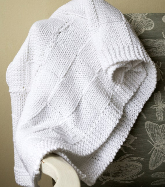 Knitting Pattern Swaddling Blanket : Easy baby blanket knitting pattern / Beginner knitting ...