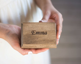 Will you be my bridesmaid Personalized Proposal Box Maid of Honor Sister of the Bride Bridesmaids Gift Jewelry box Wooden box