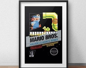 Mario Bros Original NES Box print