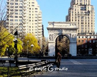 Washington Square Park No. 1, Greenwich Village, New York City, Fresco Photograph, Fine Art Print, Wall Art