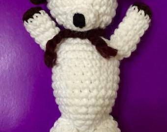 Crocheted Amigurumi Puppy, Amigurumi, Stuffed Puppy, Handmade Dog, Amigurumi Dog