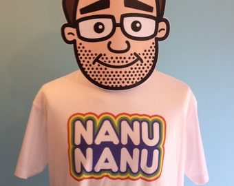 Mork And Mindy - Nanu Nanu US Comedy T-Shirt (Robin Williams / Pam Dawber) - White Shirt