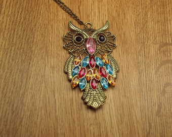 Long Beautiful Owl Necklace