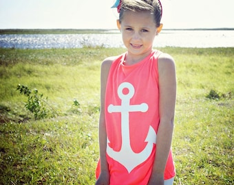 Anchor Front/Bow Back Racer back tank