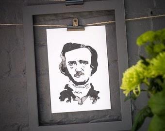 Edgar Allan Poe Inkling print
