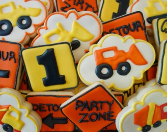 Construction Themed Cookies