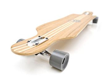 White Wave Bamboo Mayhem Longboard