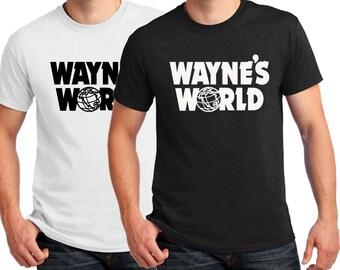 Wayne's World T-shirt Men's & Women's Halloween Cosplay costume T-shirt