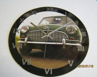 Vintage British Leyland Green Mini Wall Clock