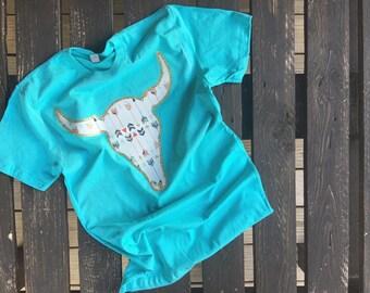 Bull Skull Fabric Shirt