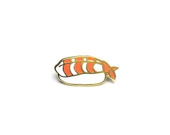 Shrimp Sushi Enamel Pin