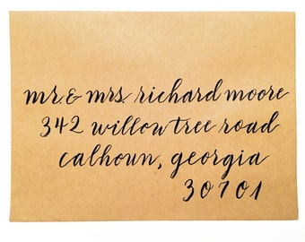 """The """"Willow"""" style outer envelope calligraphy"""
