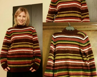 Vintage Alfred Dunner Striped Pullover Sweater Size Small