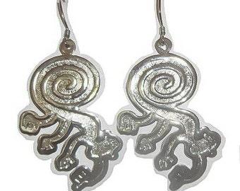 Peruvian Nazca Monkey Alpaca Silver Earrings 32-ZFG0-E64P