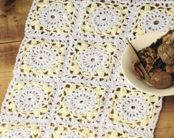 Crochet Vintage  Style Placemat Pattern only Petra cotton Yarn