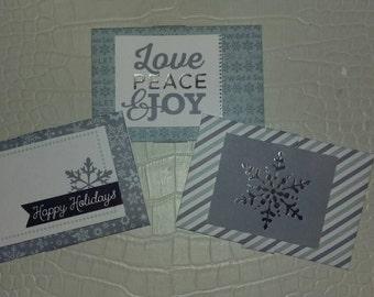 3 Set Winter Wonderland Giftcard Holders