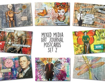 Art Journal Postcards (Set 2)