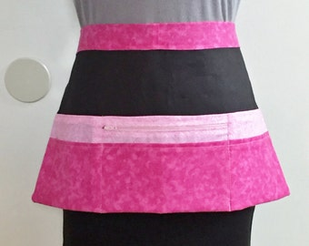 Vendor Aprons, Zipper Pocket Apron, Half Apron, Craft Apron, Show Apron, Money Apron, Utility Apron, Market Apron