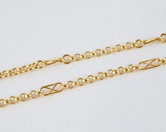"""Gold Filled Chain 17"""" Inch 18k Gold-filled gold tone findings for gold filled jewelry making Cg46"""