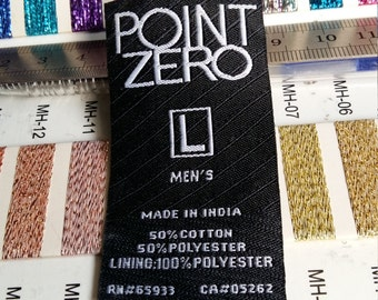 1200 pieces composition clothing label,wish woven label, Size woven label ,Address labels.