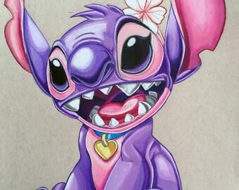 Girl Stitch 11x17 illustrated print