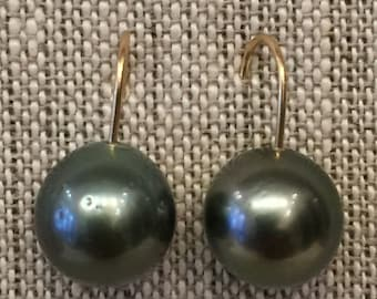 Tahitian Pearl 18k  Earrings