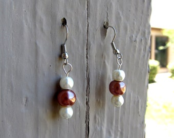 Copper & Pearl Earrings
