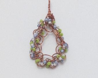 Beaded Wire Crochet Pendant