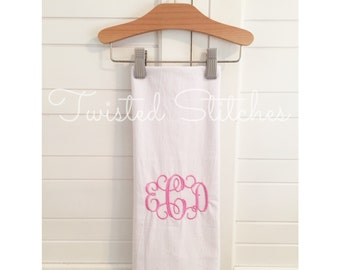 Monogrammed Flour Sack Towel, Custom Tea towel, Personalized towel