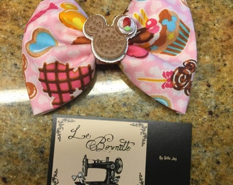 Minnie and Mickey sweets hair bow