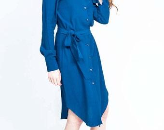 Blue Marine Shirt Dress
