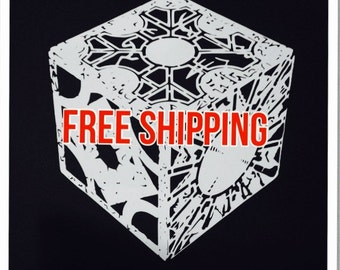 "White Lament Configuration Vinyl Decal. Size 5 1/2""wide by 6""high -  on sale at this price for limited time - Hellraiser Puzzle Box Decal -"