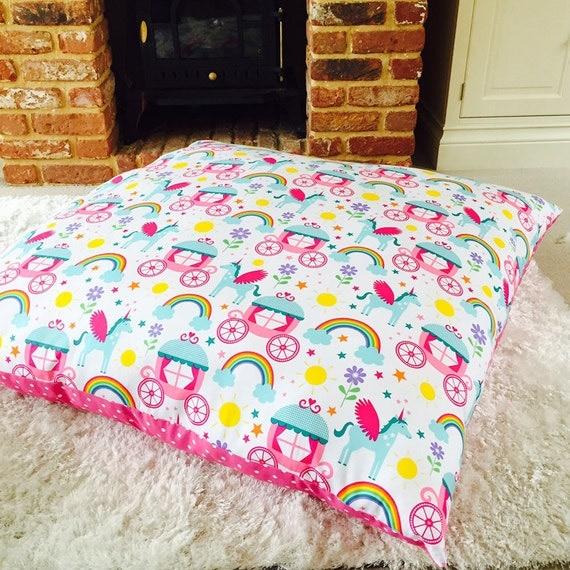 Huge Floor Cushion Girls Bedroom Oversized by SamAndRigbyBabywear