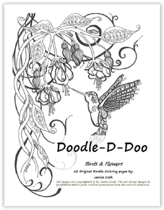 Doodle D Doo Coloring Pages 2 Birds And Blooms