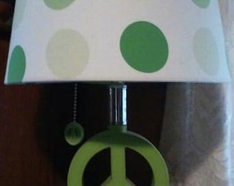 Cool Vintage Peace Sign Hippie Lamp