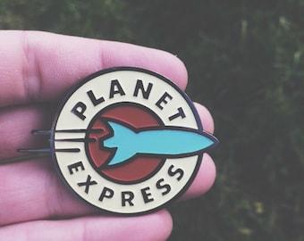 Futurama Planet Express hard enamel pin bagde