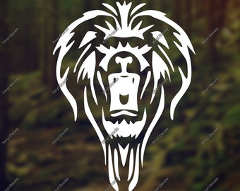 Lion Vinyl Decal - Lion Decal - Lion Laptop Decal - Lion Car Decal - Lion Wall Decal - Lion Wall Art - Bird Vinyl Sticker - Lion Wall Vinyl