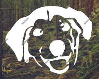 Dog Vinyl Decal - Dog Decal - Laptop Sticker - Laptop Decal - Car Decal - Wall Decal - Wall Art - Vinyl Sticker - Bumper Sticker
