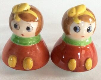 1950s Little Girl Salt and Pepper Shakers