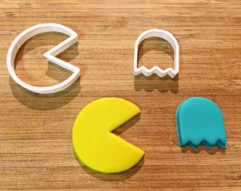 Pac Man Cookie Cutter, Video Game Cookie Cutters, 3D Printed