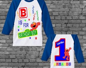 Elmo Birthday Shirt - Elmo Shirt - Front and Back Design
