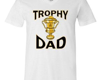 Trophy Dad V-Neck T-Shirt