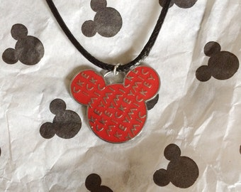 Disney Mickey Mouse Head Necklace