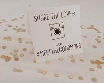 wedding hashtag mini tented cards // printable // custom