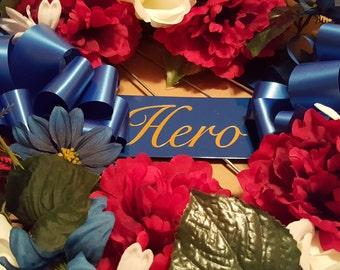 """Patriotic """"Hero"""" Wreath for Memorial Service"""