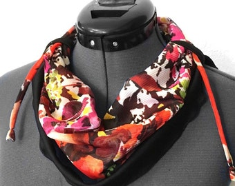Scarf / infinity scarf / Neck warmer / colorful / in chiffon and jersey